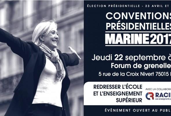 Convention présidentielle «REDRESSER L'ECOLE ET L'ENSEIGNEMENT SUPERIEUR»